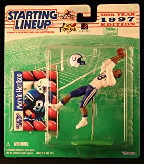 Starting Lineup Marvin Harrison / Indianapolis Colts 1997 NFL Action Figure & Exclusive NFL Collector Trading Card