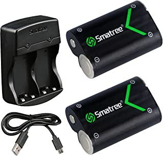 Smatree Xbox Series X/S充電バッテリー (2個セット) 急速充電器付き シリーズx/Xbox One /Elite/ X/ Sにも対応 2000mAh大容量バッテリー 2個同時充電可能 1年間安心保証付き