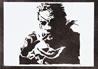 Poster Metal Gear Solid Snake Grafiti Hecho a Mano - Handmade Street Art - Artwork