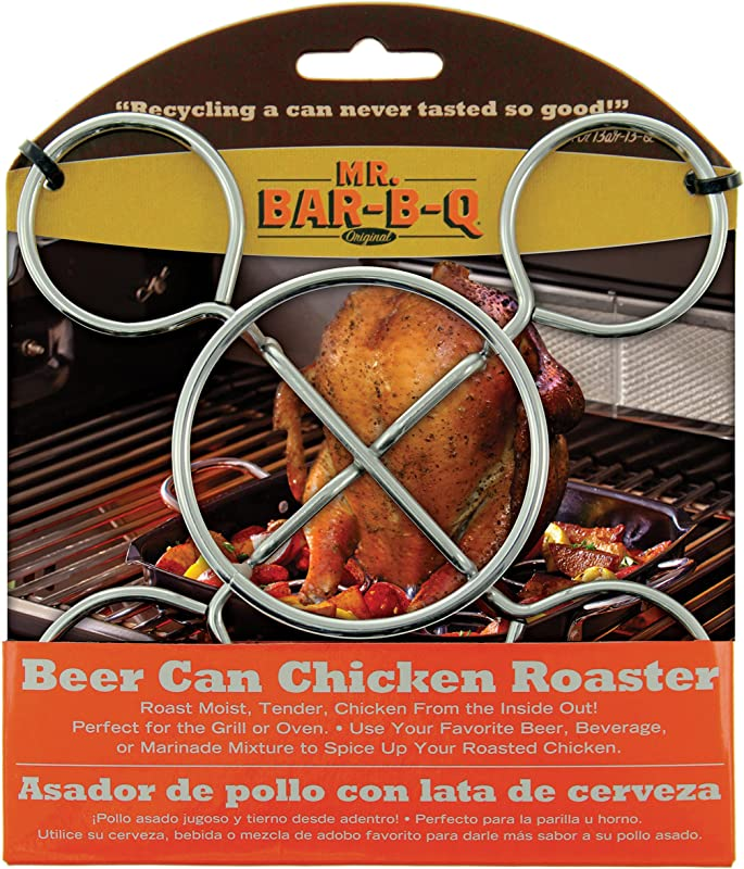 MR BAR B Q BEER CAN CHICKEN ROASTER BARBECUE BBQ