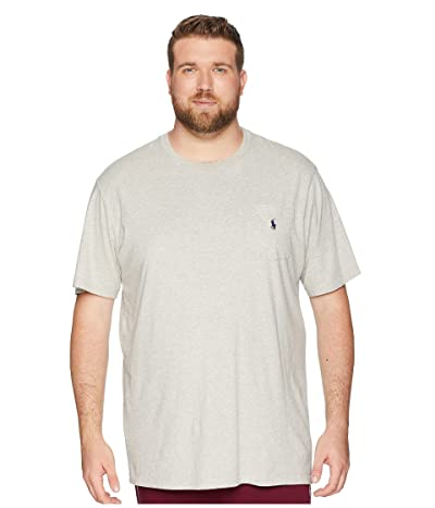 Polo Ralph Lauren Big & Tall Big and Tall Classic Fit Crew Neck Pocket T-Shirt (New Grey Heather) Men