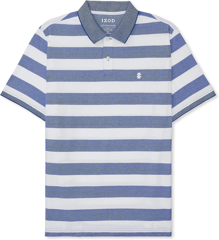 IZOD Men's Big & Tall Big and Tall Advantage Performance Short Sleeve Stripe Polo
