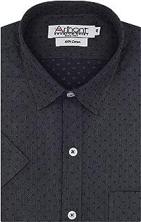 Arihant Self Design 100% Cotton Half Sleeves Regular Fit Formal Shirt for Men