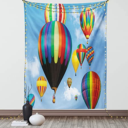 Tapestry Printed Wall Hangings Tapestry Polyester Tapestry Hot Air Balloon Decor