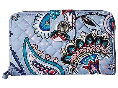 Vera Bradley Iconic RFID Turnlock Wallet (Makani Paisley) Wallet Handbags