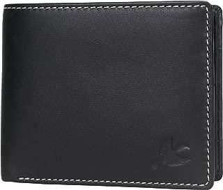 Hornbull Men's Stella Genuine Leather RFID Blocking Wallet (Black)