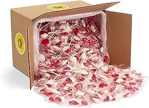 Heart Lollipops by Candy Creek, Bulk 18 lb. Carton, Strawberry Cream Valentine's Candy