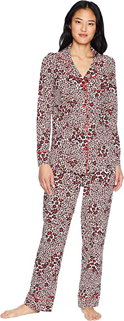 Snow Leopard Pima Knit Pajama Set