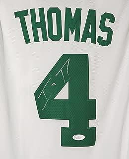 Isaiah Thomas Boston Celtics Signed Autographed White #4 Jersey Size M JSA COA