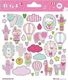 Toga naissance STF105, - Leonard & Josephine Planches de Stickers, Autre, Multicolore, 15 x 0.1 cm