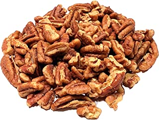 Fresh crop of raw Pecan pieces in 5 lbs Bulk and Vacuum bag, (Chopped, 5 Lbs) 100% Natural nuts, they compare to organic, Non - GMO, No Preservatives, No PPO, Unpasteurized