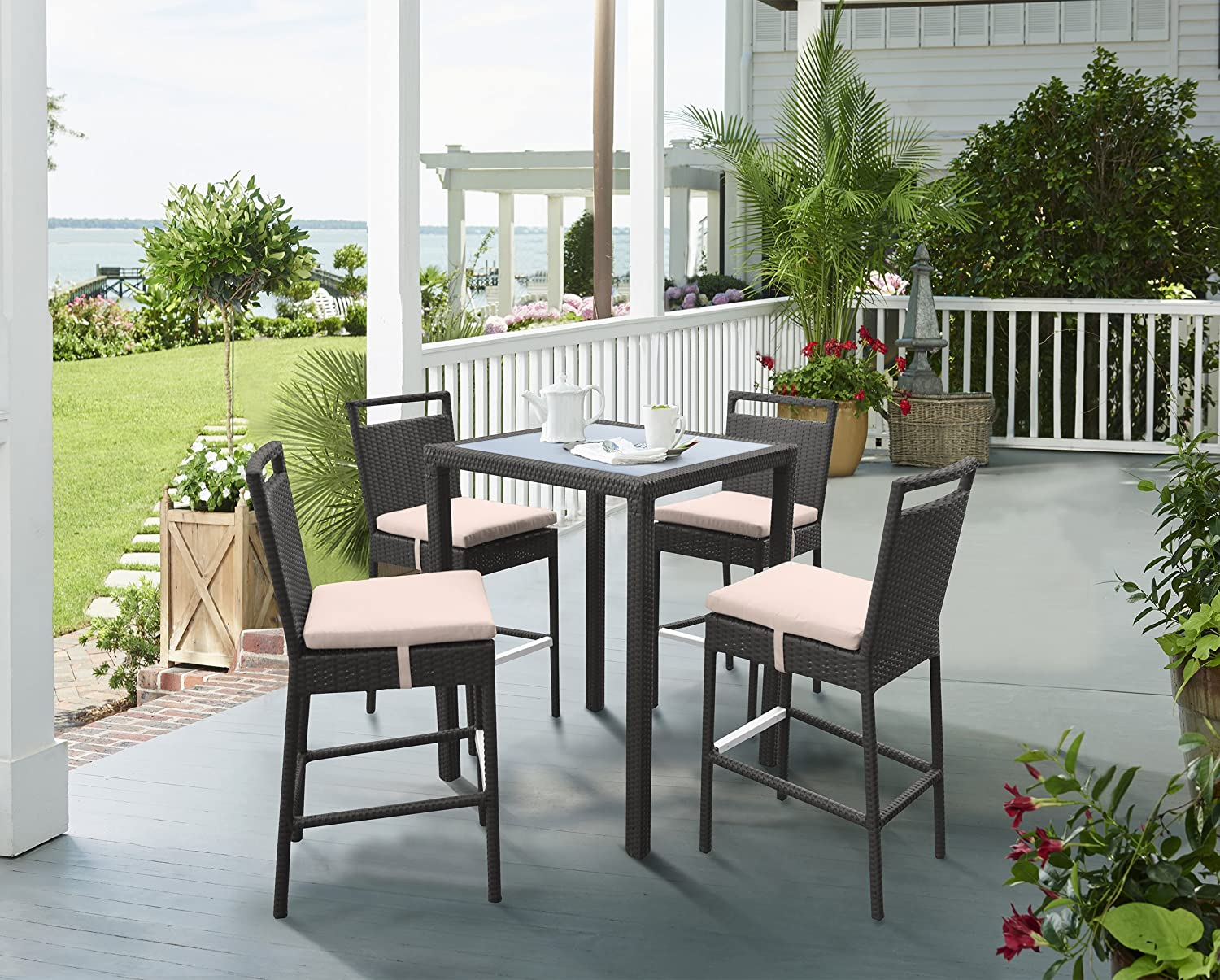 Armen Living Tropez Ranking TOP3 Shipping included WickerBar Patio Set