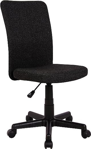 SixBros. Bürostuhl,Schreibtischstuhl zum Drehen, Drehstuhl für's Büro oder Home-Office, stufenlos höhenverstellbar, Chefsessel aus Stoff, schwarz,…