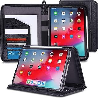 rooCASE iPad Pro 11 Case 2018, Premium Executive Portfolio Leather Case, Detachable Sleeve, Document Organizer for Apple iPad Pro 11-inch 2018 3rd Generation, Black [Support Apple Pencil Charging]