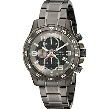 Invicta Men's Specialty 45mm Gunmetal Stainless Steel Chronograph Quartz Watch, Gunmetal (Model: 14879)