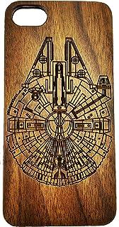 Apple iPhone Star Wars Millennium Falcon Caja del teléfono de madera para iPhone 5 / 5S / SE