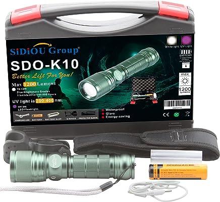 Sidiou Group Super Bright XM-L T6 Einstellbare Zoom Taschenlampe Q5 LED Lila UV Licht Ultralilat Taschenlampe 1200 Lumen USB Ladeleitung 3000mah 18650 Batterie Mit Fahrrad Halterung B01BDAGBA8     | Hohe Qualität und geringer Aufwand