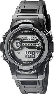 Armitron Sport Unisex 45/7064BLK Grey Accented Digital Chronograph Black Resin Strap Watch
