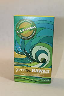Green Tea Hawaii Powder with Noni for All Natural Weight Control and Health Benefits. (12 pack-Raspberry Lemonade Flavor)