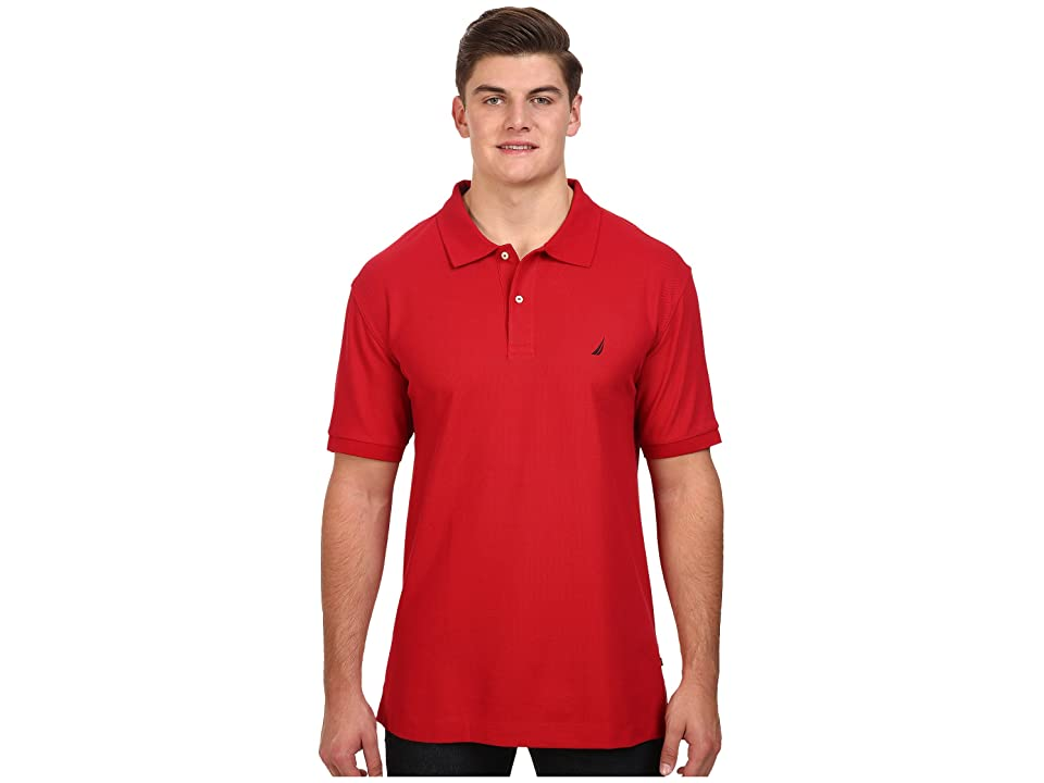 Nautica Big & Tall Big Tall Anchor Solid Deck Shirt (Nautical Red) Men