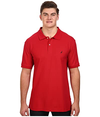 Nautica Big & Tall Big Tall Anchor Solid Deck Shirt (Nautical Red) Men