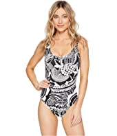 Polo Ralph Lauren - Mosaic Print Lace-Up One-Piece
