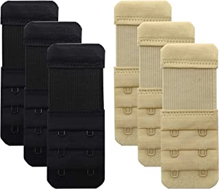 Women Bra Extender 2 Hook,Stretchy Soft Comfortable Bra Strap Extensions - 6 pcs Pack