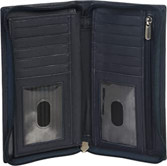 mw602CF Leather Checkbook Holder with Secure Zippers style
