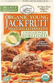 Edward & Sons, Jackfruit Young Unseasoned Shredded Organic, 7 Ounce