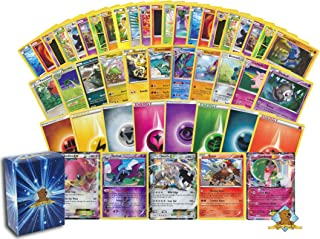 100 Assorted Pokemon Cards – 1 GX, EX, or V (170 HP or Higher) Pokemon Ultra Rare,..
