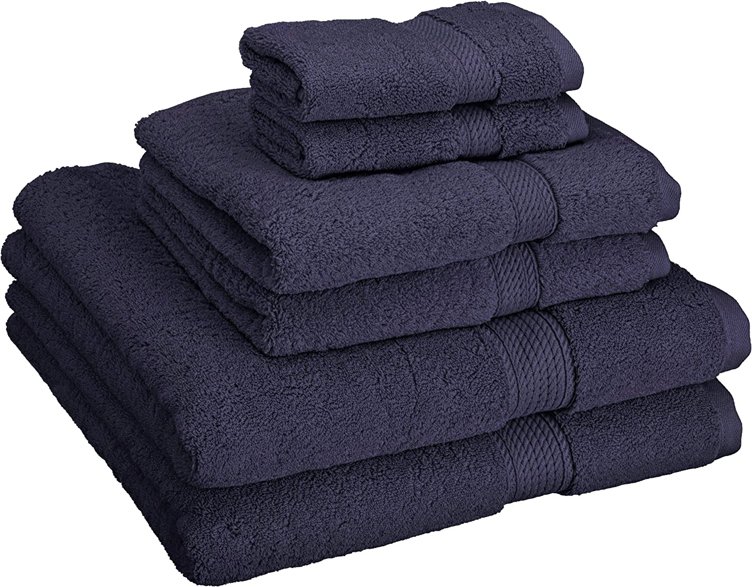 Superior Egyptian Cotton Luxury 900 GSM Towel Set, 6 Piece, Midnight bluee