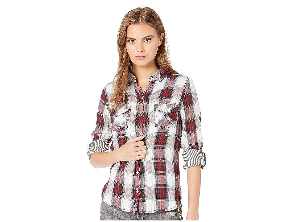 Dakine Maui Pocket Shirt (Dark Cherry Plaid) Women