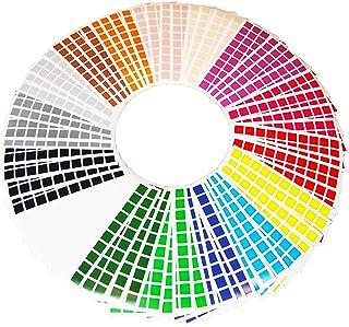 La Manufacture du Pixel - 3 200 gommettes stickers carrées autocollantes 1cm x 1cm - Pixel Art, Loisir Créatif, Mosaïque, ...