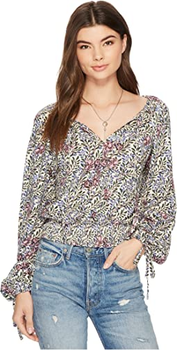 Lucky Brand - Banded Bottom Peasant Top