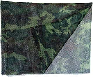 Woodland Camo Individual Sniper Net Veil - 5ft x 8ft - Made in USA