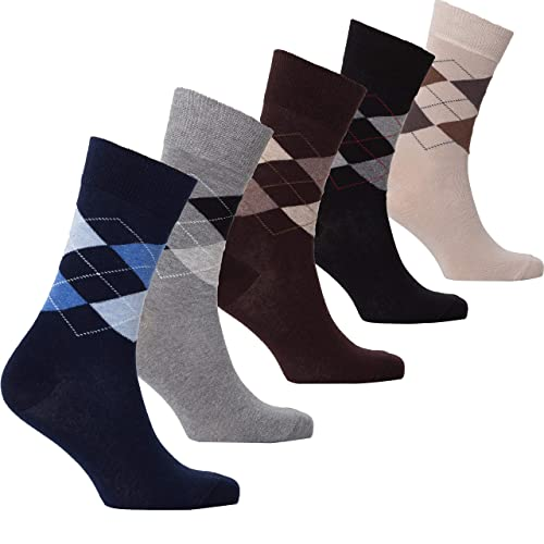 c380edcfbeea Socks n Socks-Mens 5pair Luxury Colorful Cotton Fun Novelty Dress Socks  Gift Box