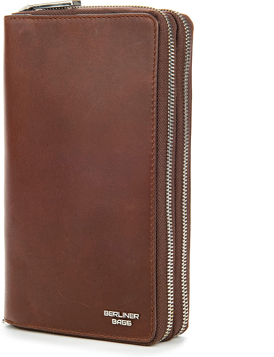 Berliner Bags Premium Leather Free shipping New Wallet Long Beach Mall XL RFID Protective Dallas