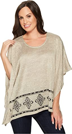 Roper - 1419 Poly Cotton Sweater Knit Poncho
