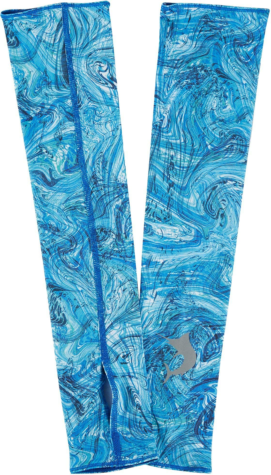 NWT $20 Reel Legends Mens Keep It Cool Abstract Action Sun Sleeves SZ SMALL//MED