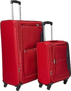 طقم حقائب سفر اورا بعجلات من امريكن تورستار، من قطعتين (55 + 80)، احمر