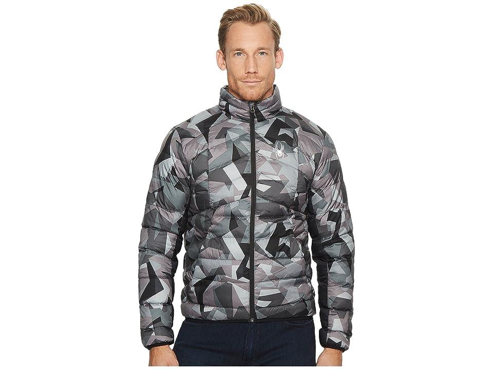 Spyder Geared Full Zip Synthetic Down Jacket (Black Camo Print/Black) Men
