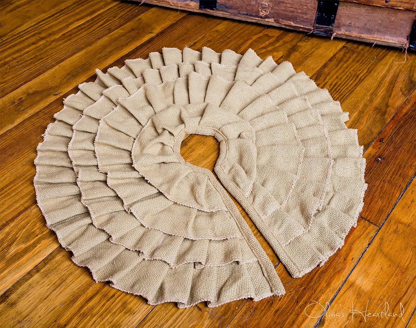 Deluxe Burlap Natural Tan Mini Tree Skirt
