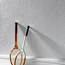 Graham and Brown 18390 Eden Wallpaper White, 20.5 x 396 inches