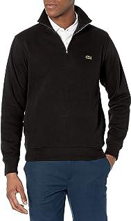 Men's Long Sleeve Quarter Zip Cotton Sweatshirt