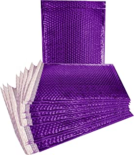 ABC 10 Pack Purple Metallic Bubble mailers 12 x 17 Large book size Padded envelopes 12x17. Glamour Bubble mailers. Peel and Seal. Padded mailing envelopes for Shipping, Packing, Packaging. Wholesale