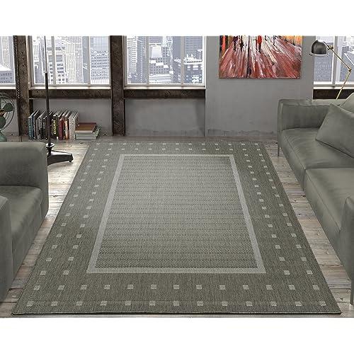 Indoor Outdoor Rug 5x7 Grey Amazon Com