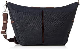 [オティアス] ショルダーバッグ 斜めがけ 軽量 メンズ ナイロン ポリエステル 混紡ツイル 本革 日本製 B5対応
