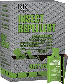 Insect Repellent Lotion Deet Free. Non-Greasy Non-Tacky Odorless 8 Hour Protection Safe for All Ages EPA Registered as a Biopesticide Using IR3535 Does not Kill, only Repels Insects Box of 50-5ML