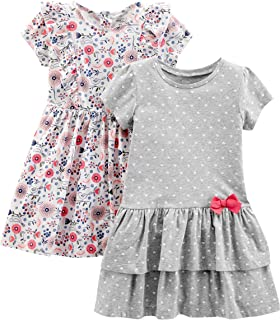 Baby and Toddler Girls' 2-Pack Short-Sleeve and...