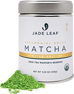 Jade Leaf - Limited Edition Organic Ceremonial Matcha - Authentic Japanese Origin - 2020 Tea Master's Reserve (3.53 Ounce)